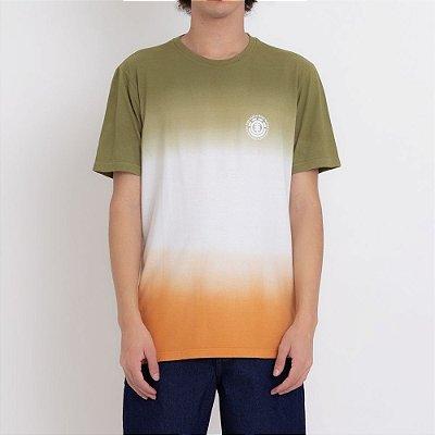 Camiseta Element Fade Out Masculina Verde/Laranja