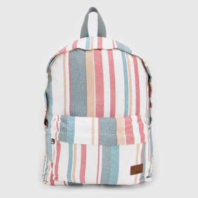 Mochila Roxy Sugar Baby Off White/Azul