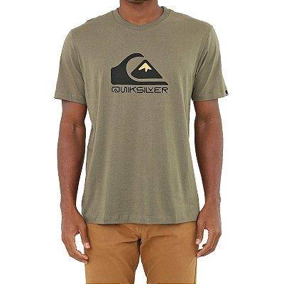 Camiseta Quiksilver Square Me Up Masculina Verde Escuro