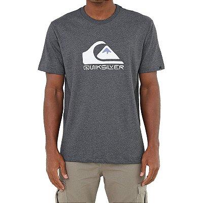Camiseta Quiksilver Square Me Up Masculina Cinza Escuro