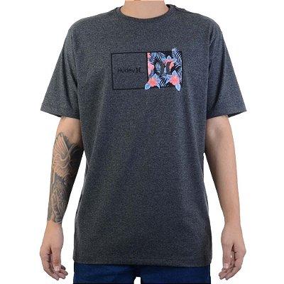 Camiseta Hurley Silk Box Masculina Cinza Escuro