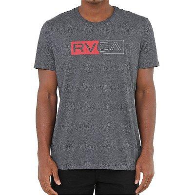 Camiseta RVCA Divider Masculina Cinza Escuro