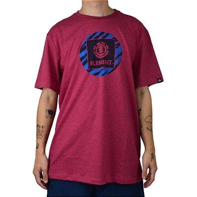 Camiseta Element Solarium Masculina Rosa Escuro