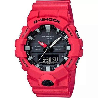 Relógio G-Shock GA-800-4ADR Masculino Vermelho
