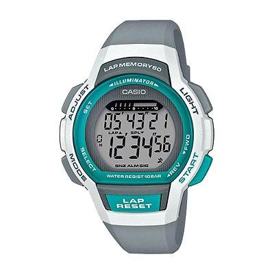 Relógio Casio Standard LWS-1000H-8AVDF Cinza/Verde