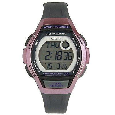 Relógio Casio Standard LWS-2000H-4AVDF Preto/Laranja