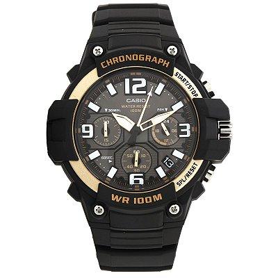 Relógio Casio Standard MCW-100H-9A2VDF Preto/Dourado