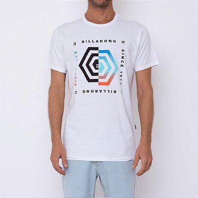 Camiseta Billabong Hex Masculina Branco