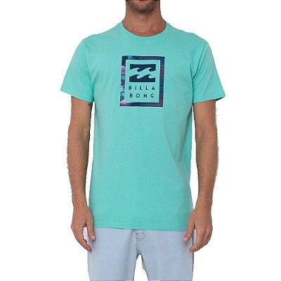 Camiseta Billabong United Stacked Masculina Verde