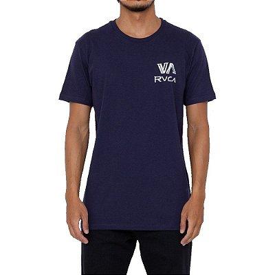 Camiseta RVCA Dry Brush Masculina Azul Marinho