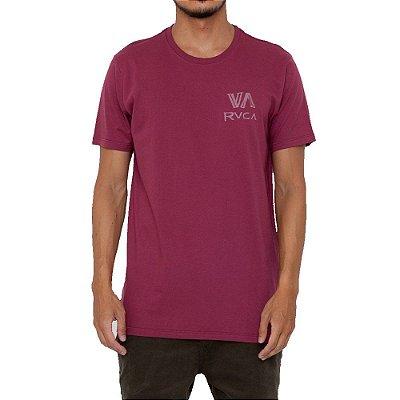 Camiseta RVCA Dry Brush Masculina Vinho