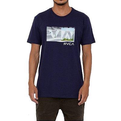 Camiseta RVCA Balance Box Masculina Azul Marinho