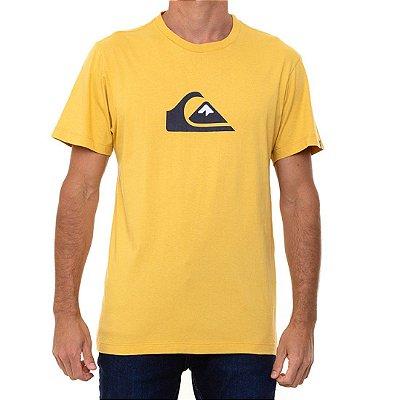 Camiseta Quiksilver Comp Logo Masculina Amarelo
