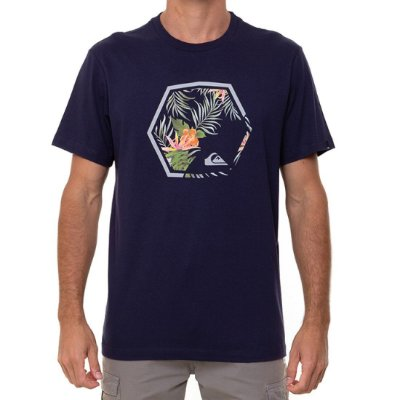 Camiseta Quiksilver Fading Out Masculina Azul Marinho