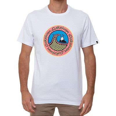 Camiseta Quiksilver Eletric Hoots Masculina Branco