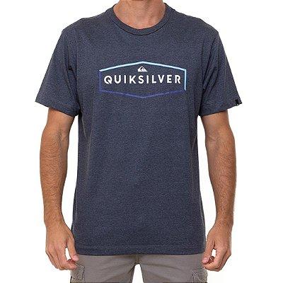 Camiseta Quiksilver Clear Mind Masculina Cinza Escuro