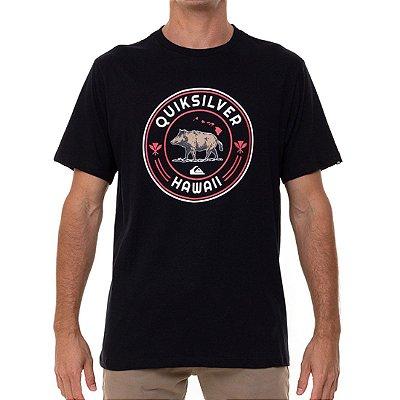 Camiseta Quiksilver Hi Next Meal Masculina Preto