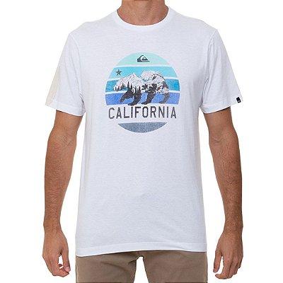 Camiseta Quiksilver CA The Traveller Masculina Branco