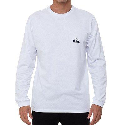 Camiseta Quiksilver Manga Longa Essentials Masculina Branco