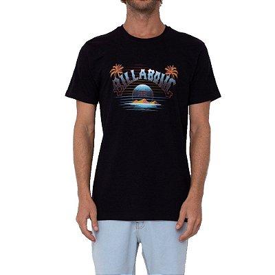 Camiseta Billabong Arch Masculina Preto