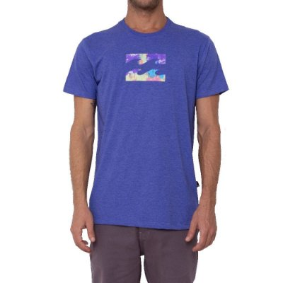 Camiseta Billabong Team Wave Masculina Azul