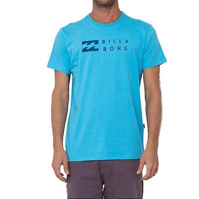 Camiseta Billabong United Masculina Azul Claro