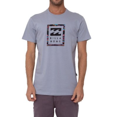 Camiseta Billabong United Stacked I Masculina Cinza