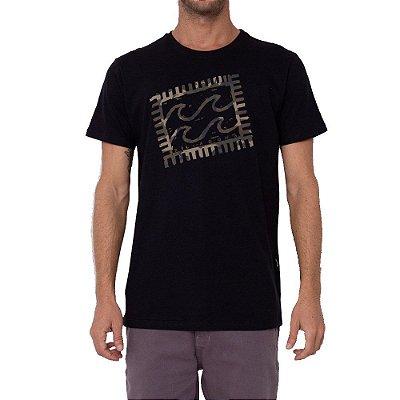 Camiseta Billabong Crayon Wave IV Masculina Preto