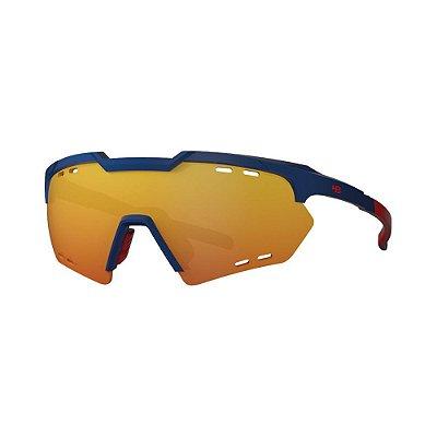 Óculos de Sol HB Shield Compact R Matte Navy | Multi Red