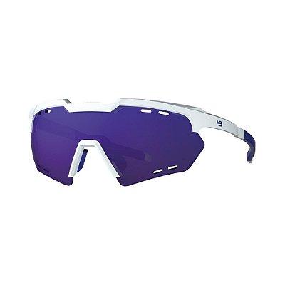 Óculos de Sol HB Shield Compact R Pearled White | Multi Purple