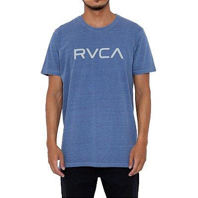 Camiseta RVCA Big RVCA Pigment Dye Masculina Azul