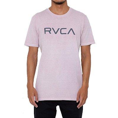 Camiseta RVCA Big RVCA Pigment Dye Masculina Rosa