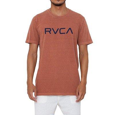 Camiseta RVCA Big RVCA Pigment Dye Masculina Marrom