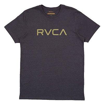 Camiseta RVCA Big RVCA Masculina Cinza Escuro