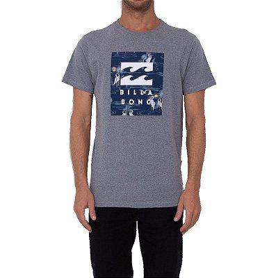 Camiseta Billabong United Stacked III Masculina Cinza Mescla