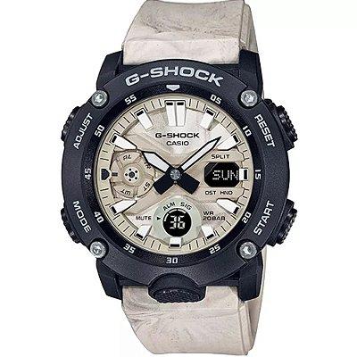 Relógio G-Shock Carbon Core GA-2000WM-1ADR Masculino Bege