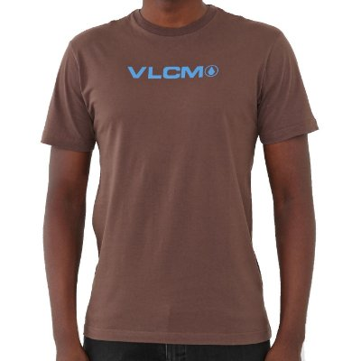 Camiseta Volcom Removed Masculina Marrom