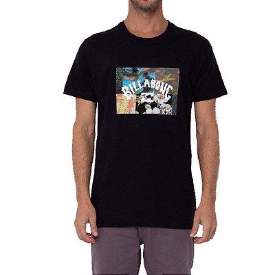 Camiseta Billabong Arch Patch Masculina Preto