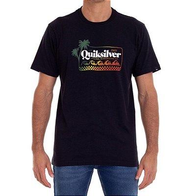 Camiseta Quiksilver Get Away Masculina Preto