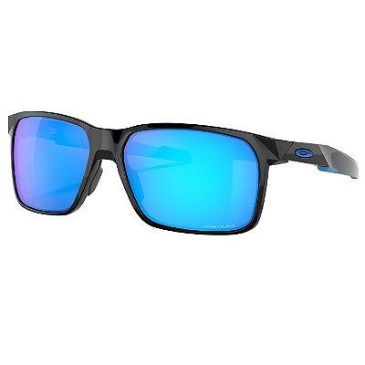 Óculos de Sol Oakley Portal X Polished Black W/ Prizm Sapphire