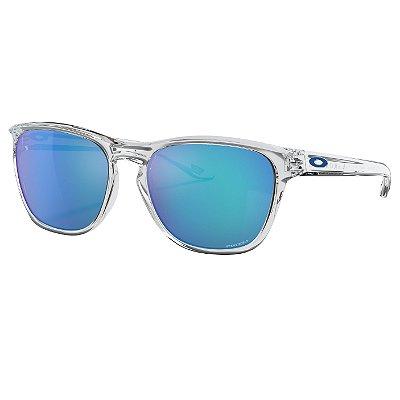 Óculos de Sol Oakley Manorburn Polished Clear W/ Prizm Sapphire