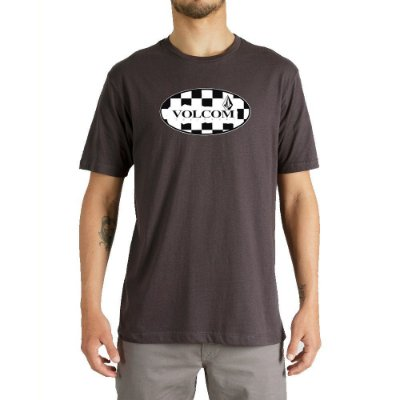 Camiseta Volcom Menial Masculina Cinza