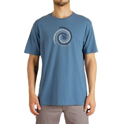 Camiseta Volcom Stone Swirl Masculina Azul Mescla