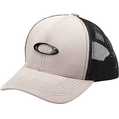 Boné Oakley Metal Ellipse Trucker Hat Cinza