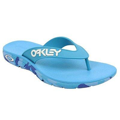 Chinelo Oakley Rest Mark II Camo Masculino Azul