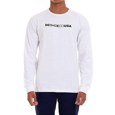 Camiseta DC Shoes Manga Longa Dcshoeco Masculina Branco