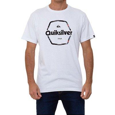 Camiseta Quiksilver Hard Wired Masculina Branco