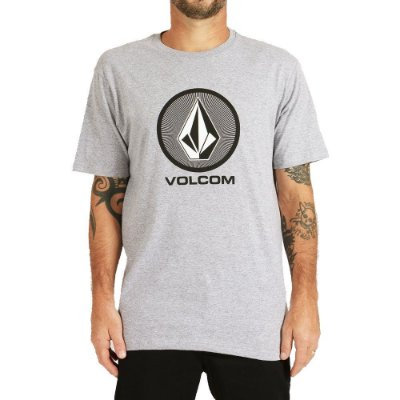 Camiseta Volcom Crypticstone Masculina Cinza Mescla