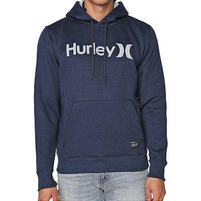 Moletom Hurley Fechado O&O Solid Masculino Azul Marinho
