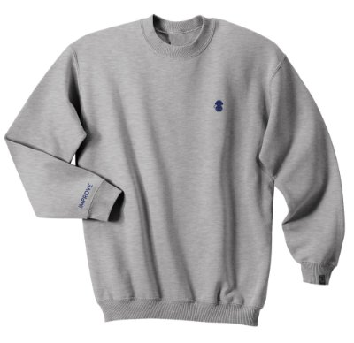CREWNECK MONKEY LOGO GREY HEATHER